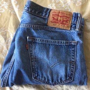 Men's 505 Levi Jeans size 34 waist 32 length